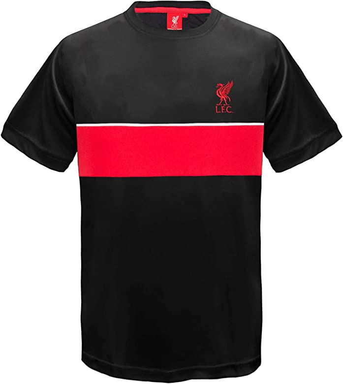 super popular 81870 73013 Liverpool FC Official Football Gift Boys Poly Training Kit T-Shirt