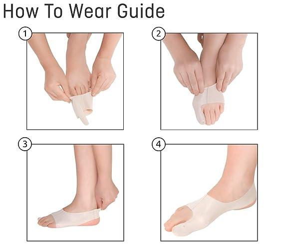 Bunion Sleeve: Corrector de Juanetes | El Ultrafino Corrector y Protector de Juanetes/Enderezador para el dedo gordo del pie | Alivio y soporte para Hallux ...
