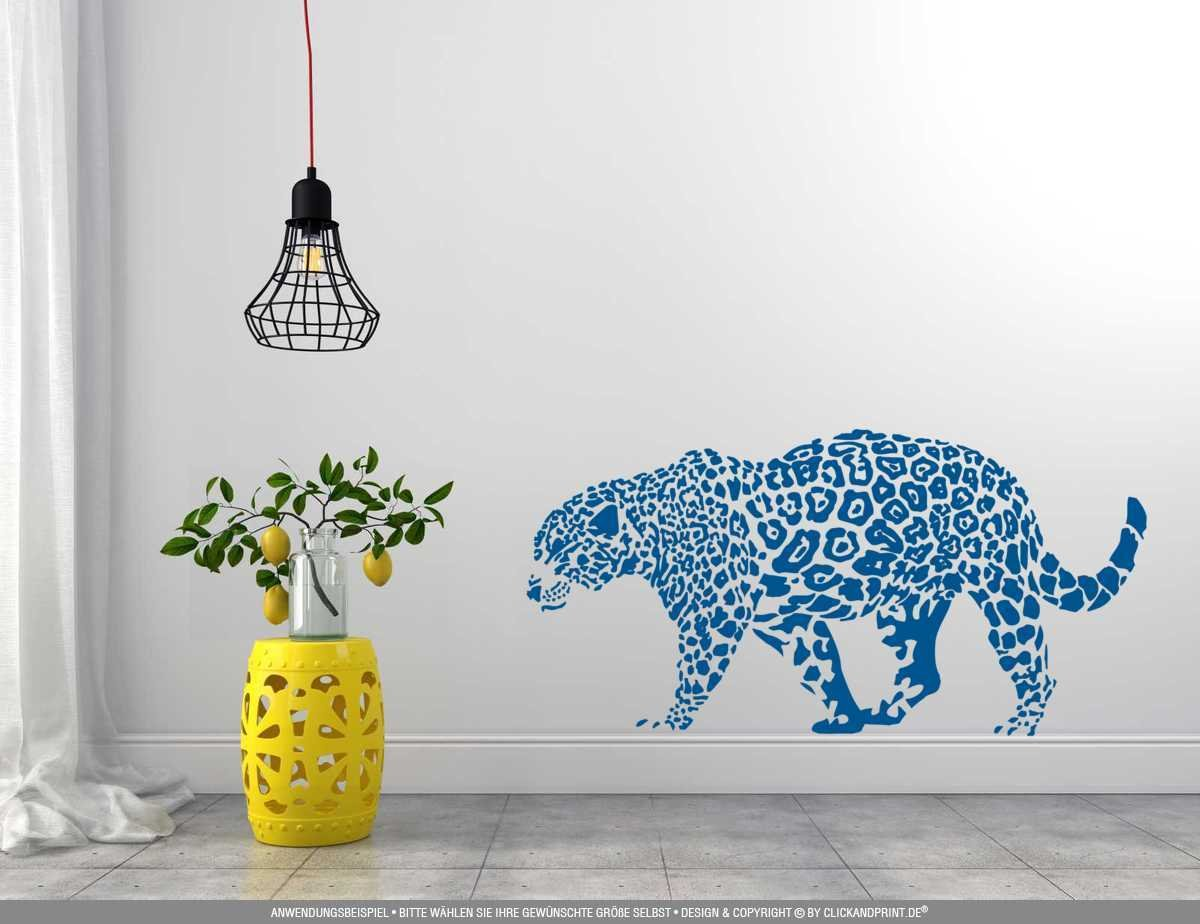 CLICKANDPRINT Aufkleber » Leopard, Leopard, Leopard, 150x74,4cm, Türkis • Wandtattoo   Wandaufkleber   Wandsticker   Wanddeko   Vinyl B073X8QZ1X Wandtattoos & Wandbilder 5249c9