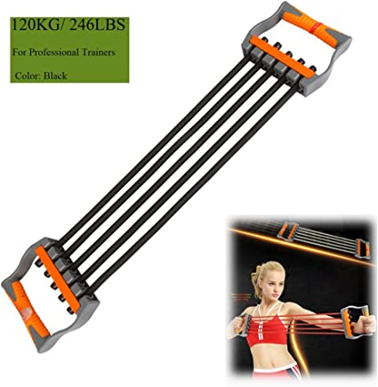 5 Spring Rubber Chest Expander Resistance Band Stretch Muscle Training Exercise
