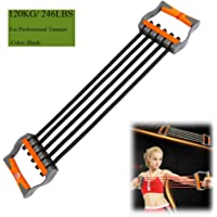 Ueasy Adjustable Chest Expander 5 Ropes Resistance Exercise System Bands Strength Trainer for Home Gym Muscle Training…