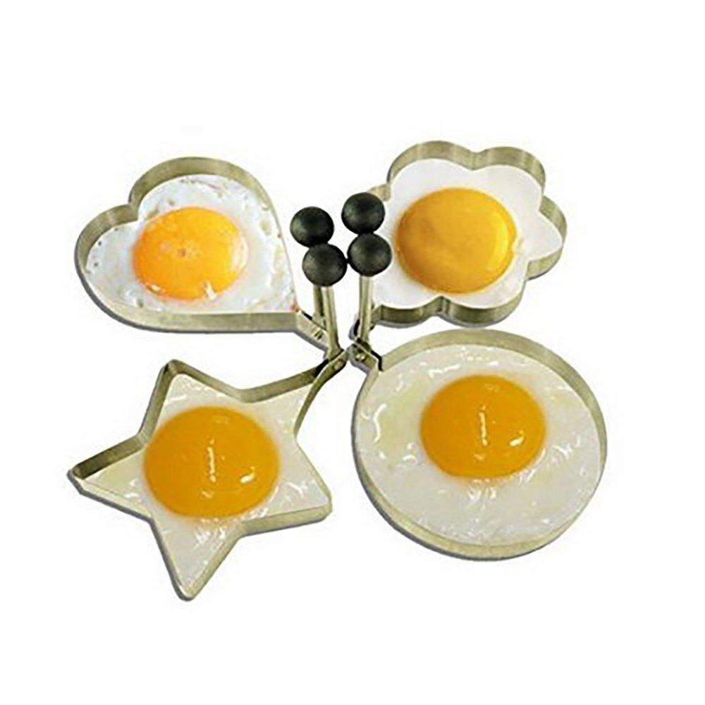 Love 4pcs, stainless steel egg love surprise egg model set heart-shaped egg mold tool