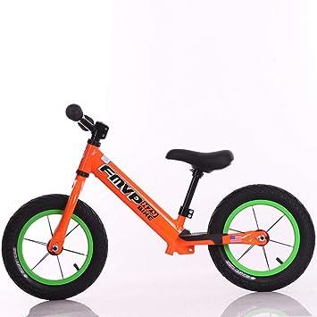 1-1 Bicicletas sin Pedales para niños, Ligero Ajustable Aleación de Aluminio Neumáticos inflables BMX Primera Bicicleta 12 en: Amazon.es: Deportes y aire ...