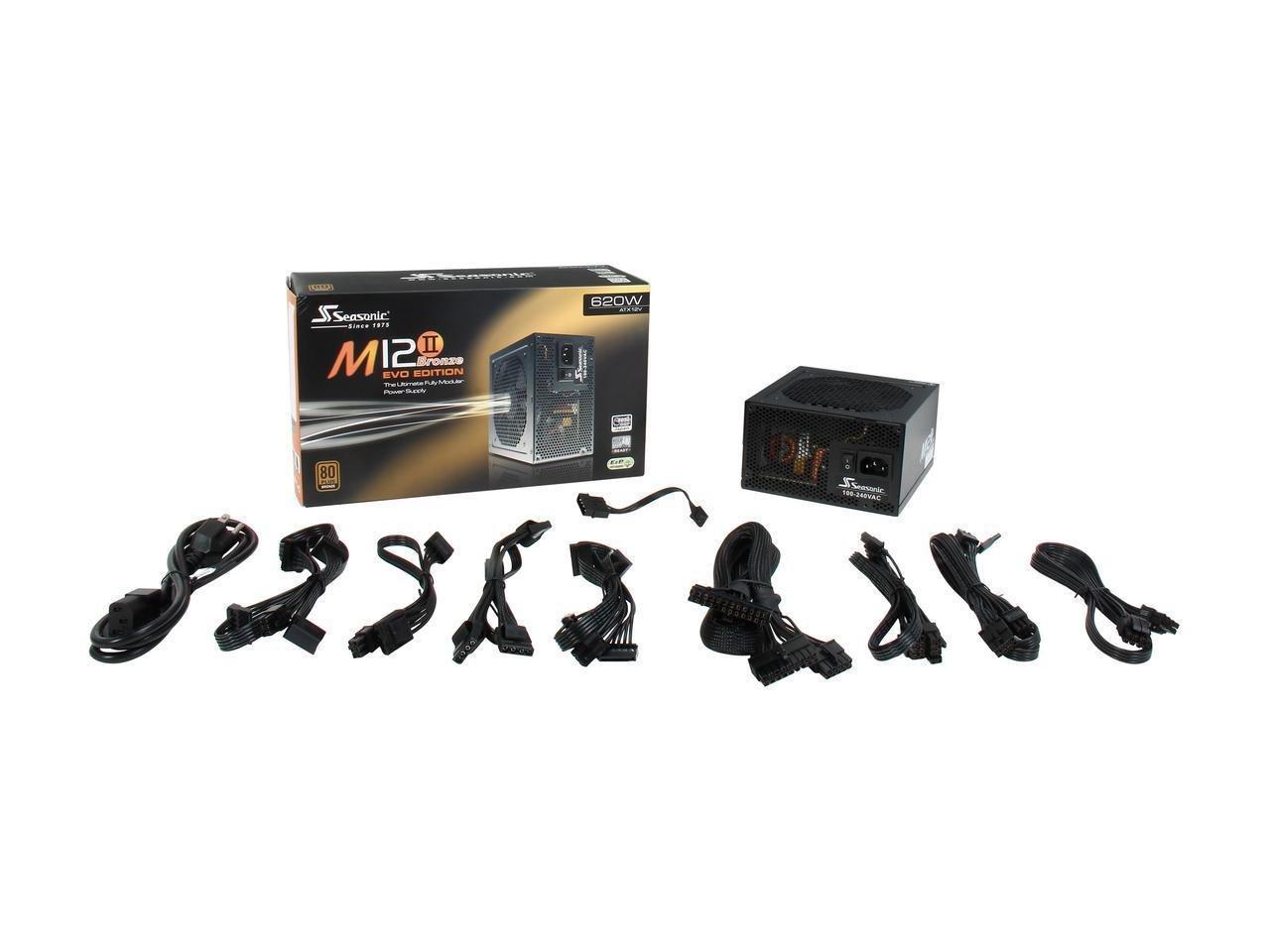 Seasonic M12II EVO 620 SS-620GM2 620W 80+ Bronze EVO Edition ATX12V & EPS12V Full Modular 105 °C Japanese Capacitor 5 Year Warranty Power Supply by Seasonic (Image #6)
