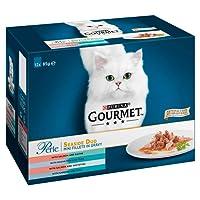 Gourmet Perle Cat Food Seaside Duo, 12 x 85 g - Pack of 4