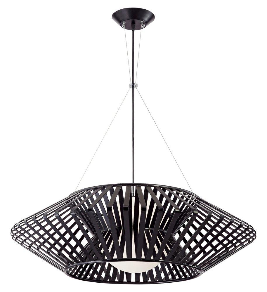 Possini Euro Planet Chrome and Black Pendant Chandelier - Lamps Plus ...