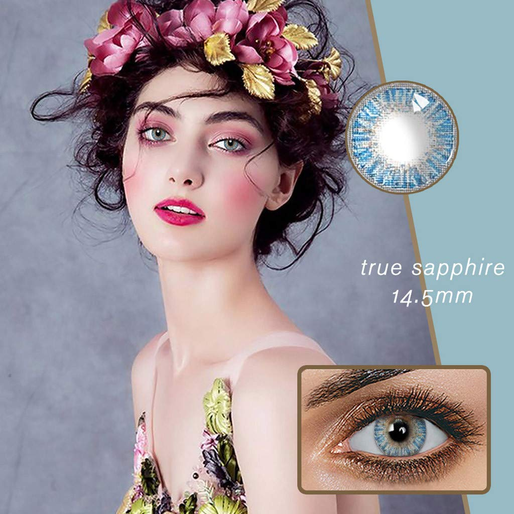SapphireB Ohome 1 Pair of Tone Colored-Lenses,Enlarger Eyes Supernatural/_Lens,Fashion Eye/_Lenses,Beautiful Color Student/_Lens Case