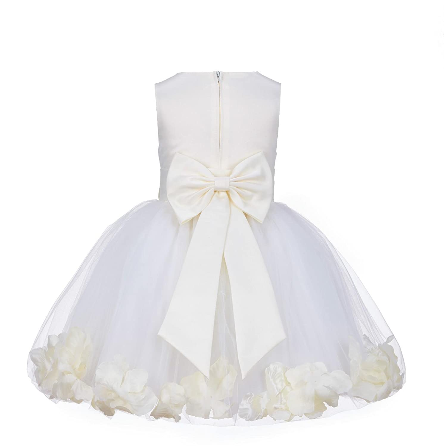 62b70517be5 Amazon.com  Wedding Pageant Rose Petals Flower Girl Dress Tulle Toddler  Bridal Easter Recital Occasions 305NT  Clothing