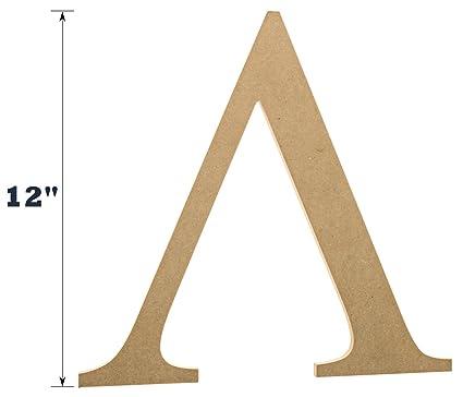 Amazon 12 Wooden Greek Letter Lambda Fraternitysorority