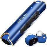 Bluetooth イヤホン 高音質 ワンボタン設計 軽量 マイク内蔵 通話可 防汗 防滴 スポーツイヤホン カナル型イヤホン Bluetooth 4.2採用 ワイヤレスイヤホン 両耳 iPhone Android 対応 (ブルー)
