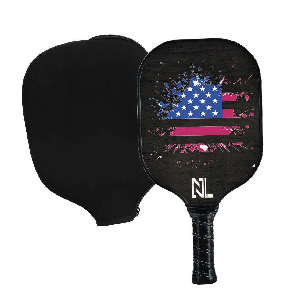 A&L Pickleball Paddle | Pickleball Paddle Set,Graphite Pickleball Racket Polypro Honeycomb Composite Core Included 1 Pickleball Paddle 1 Bag. (Black, (1 Paddle)) by A&L