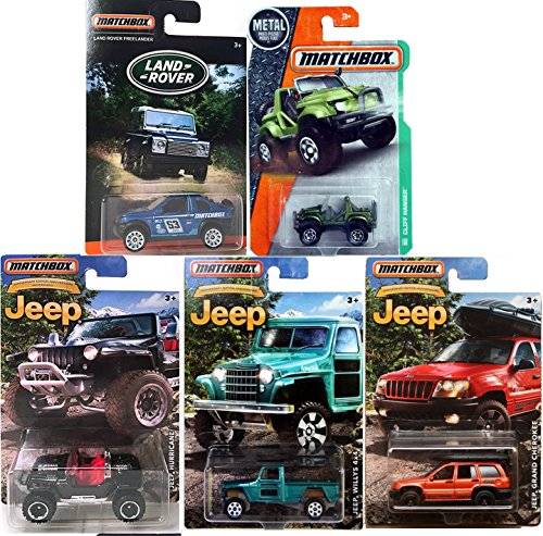 (Matchbox Land Rover exclusive vehicles & JEEP 2016 series Land Rover Discovery Police Rescue / Jeep 75th Anniversary JEEP Hurricane / Grand Cherokee / Jeep Willys 4 x4 JEEP Cliff hanger Army Green)