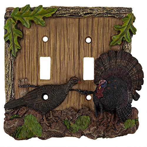 Products Turkey (Rivers Edge Products Turkey Double Switch Electrical Cover Plate)