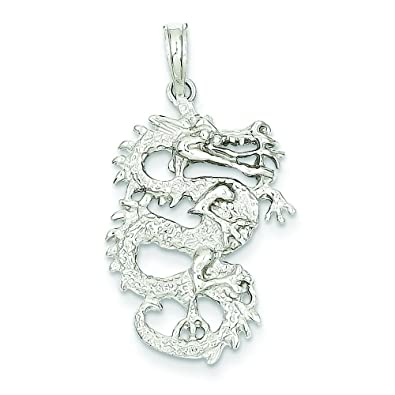 Amazon 14k white gold 3 d chinese dragon pendant jewelry 14k white gold 3 d chinese dragon pendant jewelry mozeypictures Images