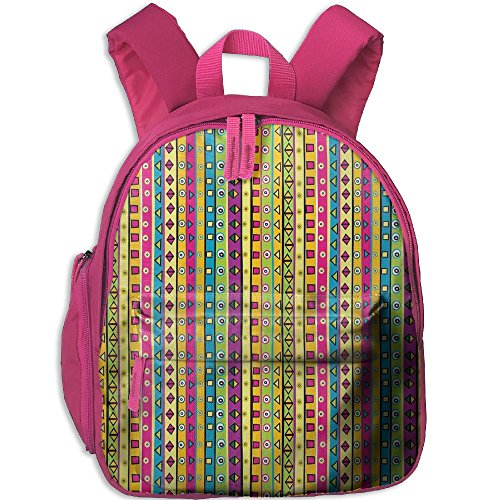 Mkajkkok Colorful Striped Abstract Pattern Triangles Squares And Kaleidoscope Fun Shapes Art Print You Are My Sunshine Backpack 3D Printing School Bag.