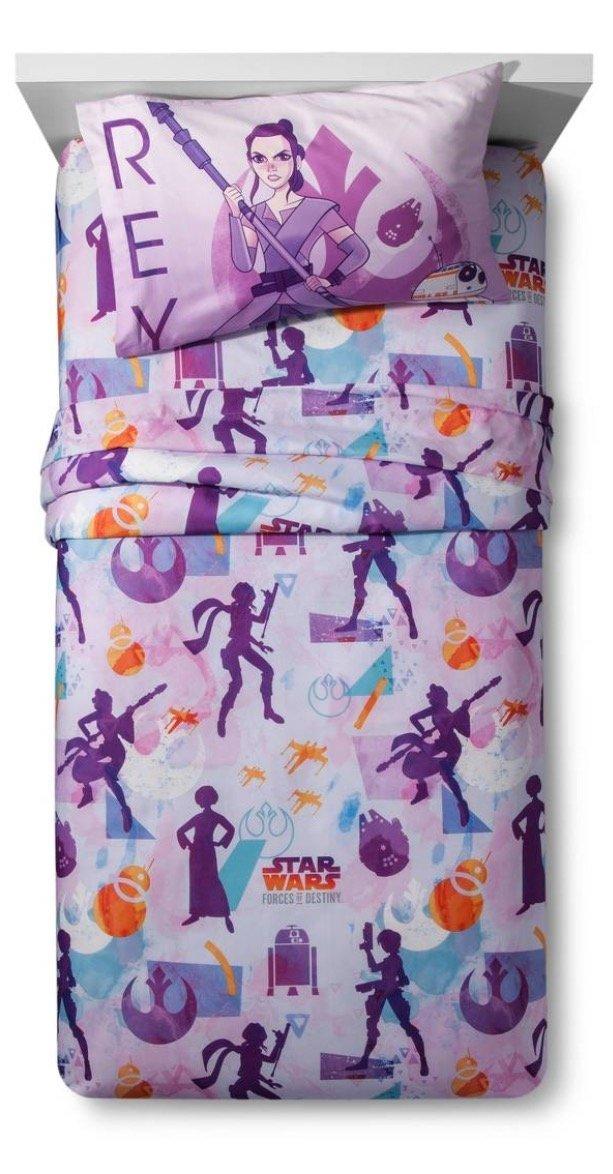 Star Wars Girls Super Soft Twin Sheet Set - Forces of Destiny