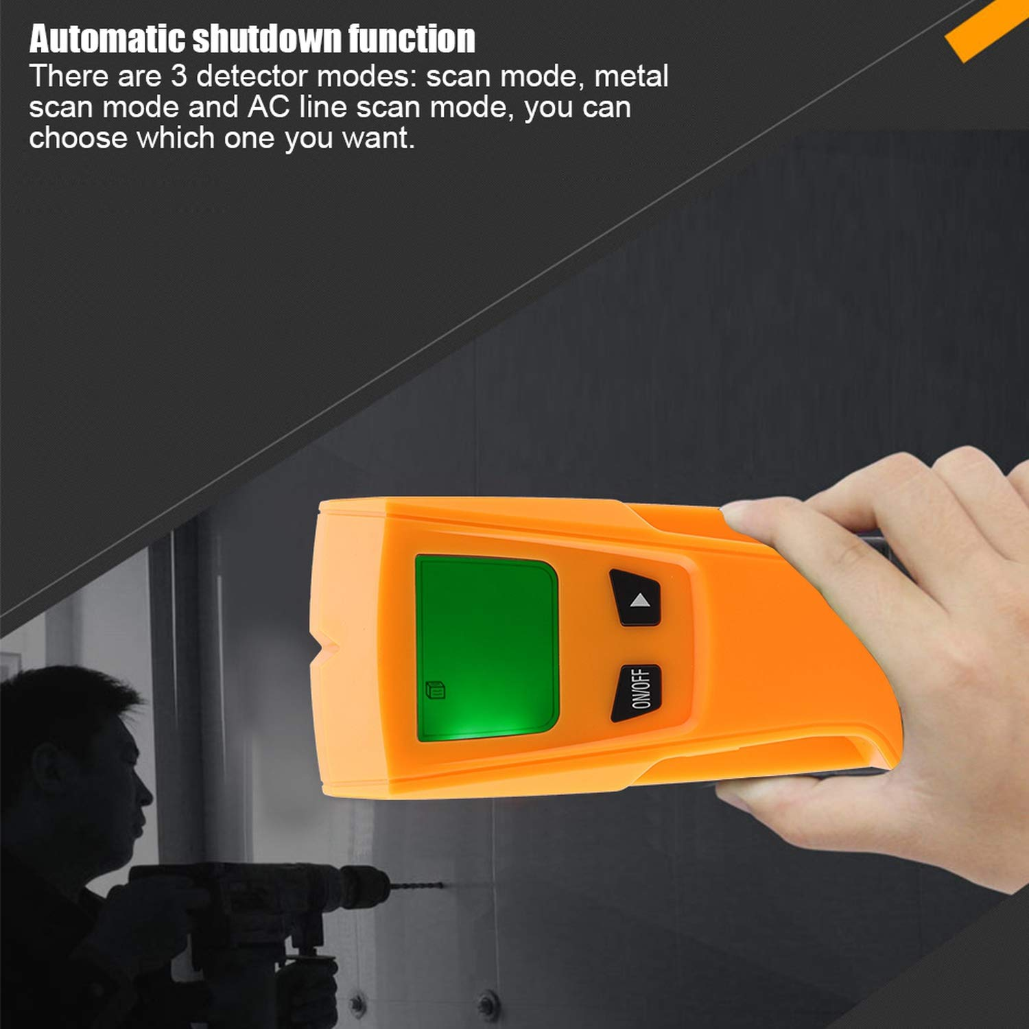 Amazon.com: Stud Finder Sensor Wall Scanner Wall Metal Detector 3 in 1 Metal Stud Wire Detector Digital LCD Wall Scanner Electric Detecting Box Finder ...