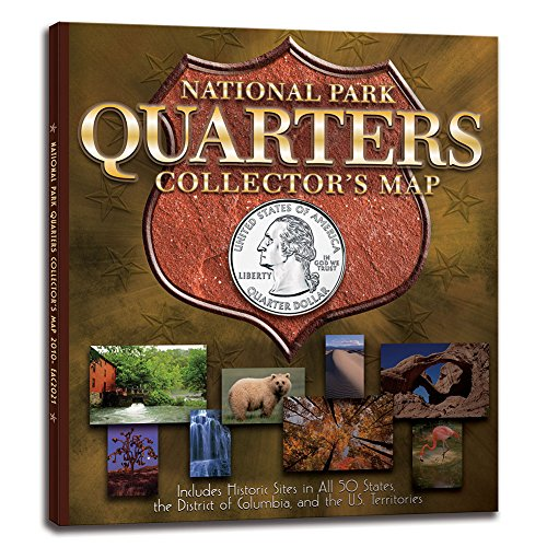 "National Park Quarters Collector Map: 2010 to 2021 – Includes a bonus San Francisco (""S"") minted coin"