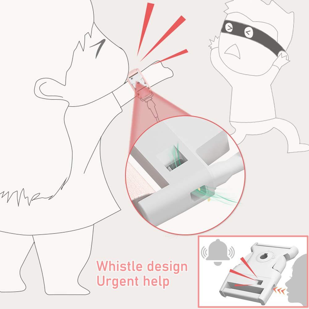 2 in 1 Upgraded Baby Anti-verloren G/ürtel Baby-Leine Kinder Anti-Verloren Sicherheitsleinen mit reflektierendem Band und Trillerpfeife- 1.5M Sicherheitsarmband f/ür Kinder