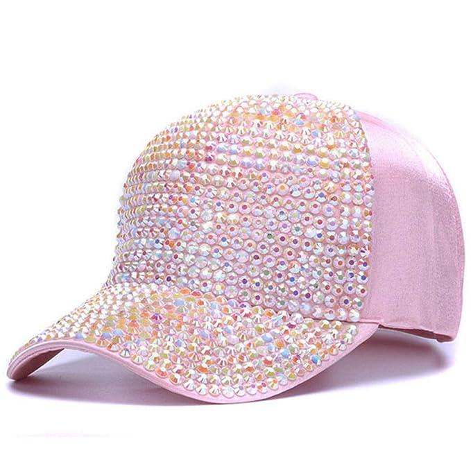 Knncch Para Mujer De Diamantes De Imitación Gorras De Béisbol Mujer De Lujo Sombreros De Bling