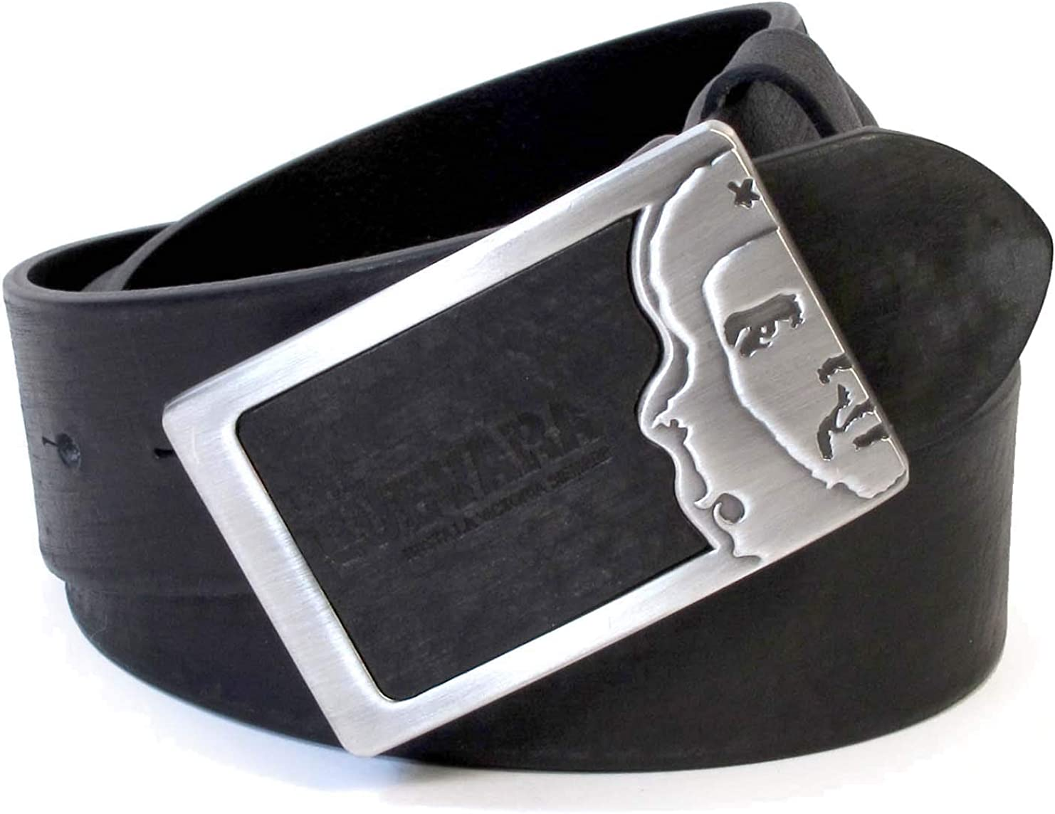 Mens Real Genuine Leather Belt Black Brown White 1.5 Wide S-L Casual Jeans CU6