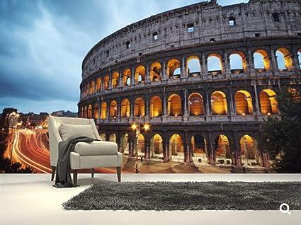 Carta Da Parati 3d Roma.Carta Da Parati Naturale Su Ordinazione Il Colosseo Roma Carta