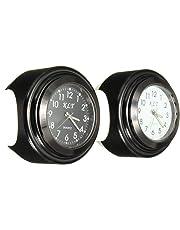 |Instruments|Universal 7/8'' 1'' Motorcycle Bike Handlebar Mount Dial Clock Watch Black White|by ATUKI|