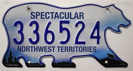 Kanada Autokennzeichen Nunavut Nummernschild Metallschild Canada License Plate