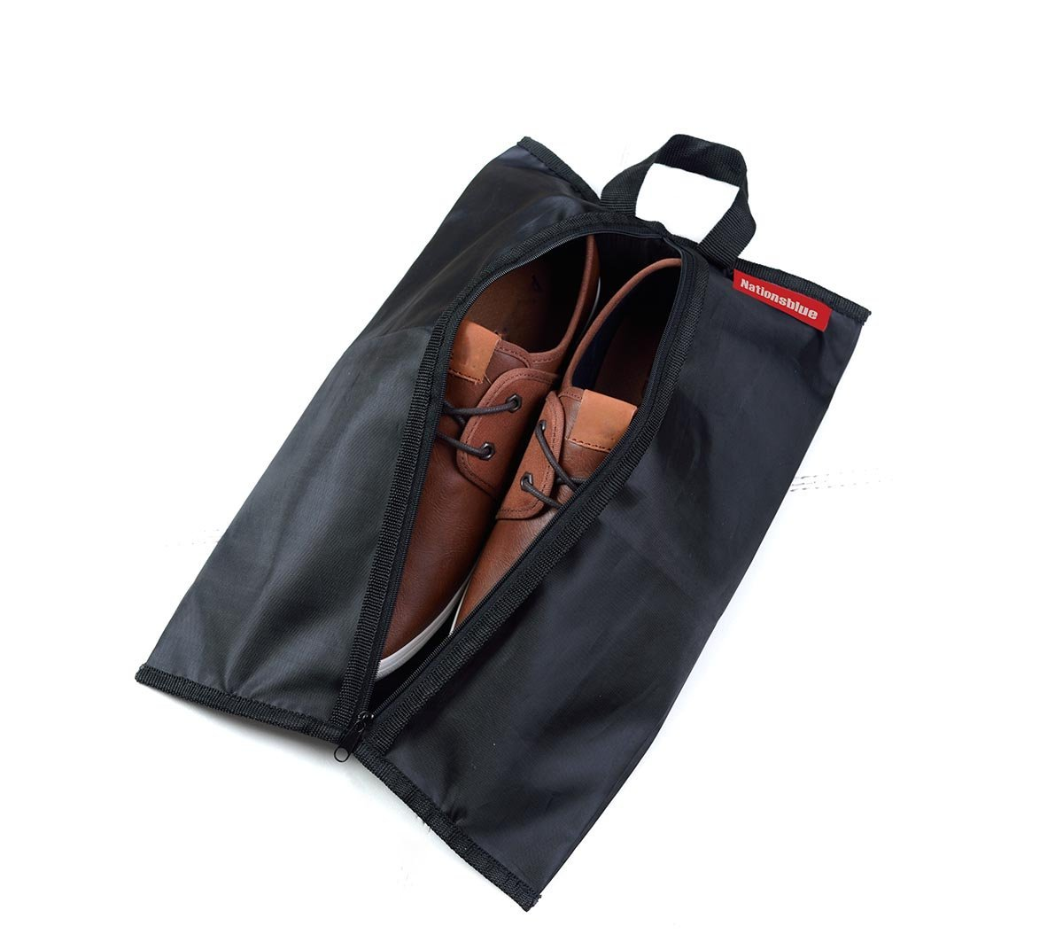 TRAVEL SHOE BAG, Nylon, Waterproof, Great Protection with Zipper Closure- Nationsblue