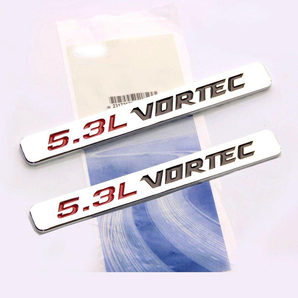 Yoaoo® 2x OEM 5.3L Vortec Hood Emblem Engine Badges Silverado Z71 GMC Sierra Colorado Avalanche 3D Chrome 23172681