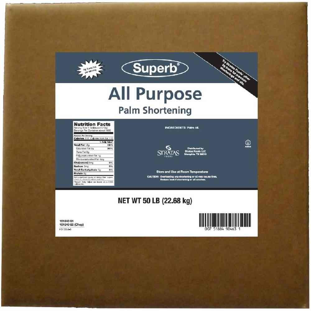 Stratas Foods Superb All Purpose Palm Shortening, 50 Pound - 1 each. by Stratas Foods