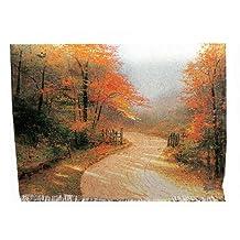 Manual Thomas Kinkade 50 x 60-Inch Tapestry Throw, Autumn Lane, 60 X 50-Inch