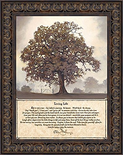 - Living Life by Bonnie Mohr 15x19 Life is a Journey Inspirational Quote Tree Framed Art Print Wall Décor Picture