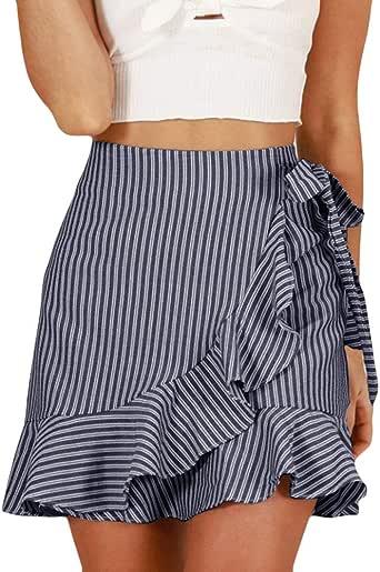 Faldas Mujer Striped Faldas a Rayas Falda 2019 Falda de Moda ...