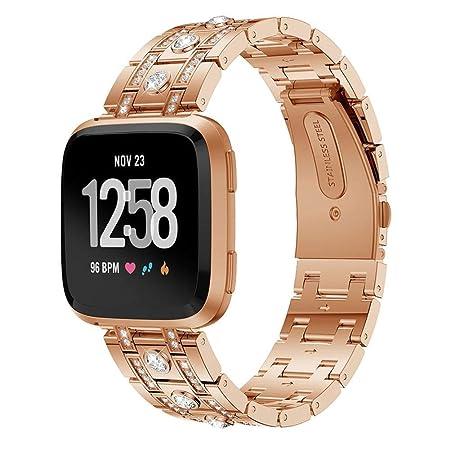 Heoolstranger Pulseras de Reloj compatibles con Fitbit Versa ...