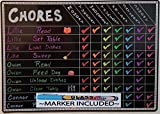 """Chore Charts for Kids Multi Use Magnetic Dry Erase Board Responsibility Behavior Chart Menu Planner to Do Calendar 12""""x17"""""""