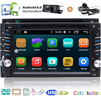Android 6.0 GPS Coches Reproductor de DVD Doble DIN 6.2 Touch ...