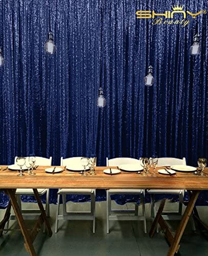 Shinybeauty 7x7ft Blau Pailletten Hintergrund Foto Hintergrund Schimmer Pailletten Vorhang