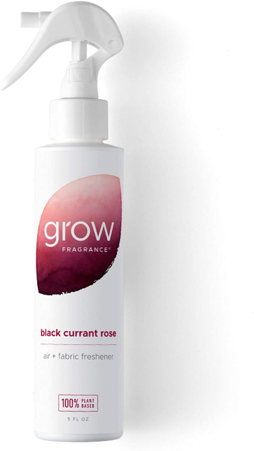 Grow Fragrance - Certified 100% Plant Based Air Freshener + Fabric Freshener Spray, Made with All Natural Essential Oils, Black Currant Rose - Limited Edition!
