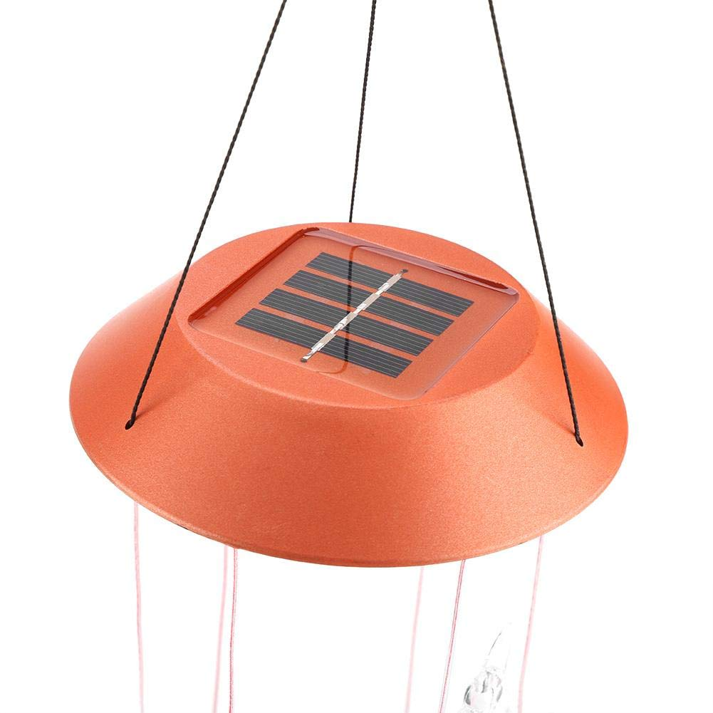 Solar Power Wind Chime Mobile Lightchanging Color Snowflake Sensor Wiring A Lamp With Night Light Led Hanging Lights