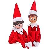 Elf on The Shelf Plush Dolls, One Set (Boy and Girl)
