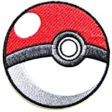 Pokeball Pokemon Cartoon Game Logo Girl Kid Baby Jacket T shirt Patch Sew Iron on Embroidered Symbol Badge Cloth Sign Costume iron on Patch, Buy 1 Get 1 Free