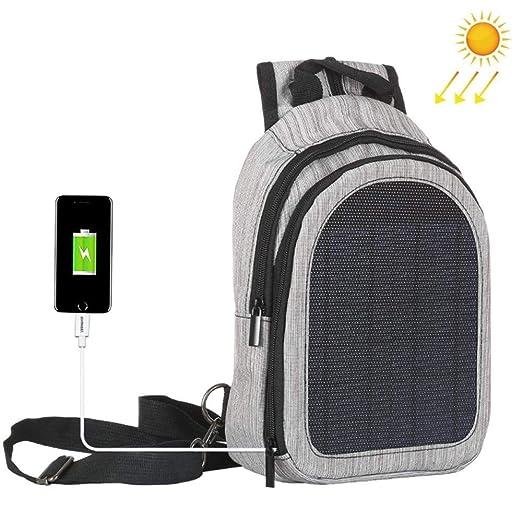 ADSBB Bolso de Hombro Solar al Aire Libre de 5V, cómodo Cargador ...