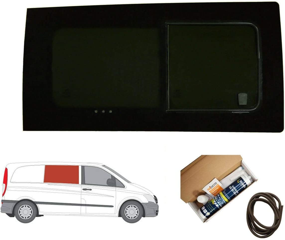 Mano derecha, tintado oscuro apertura ventana para puerta corredera para Mercedes Vito (2003 – 2014): Amazon.es: Coche y moto