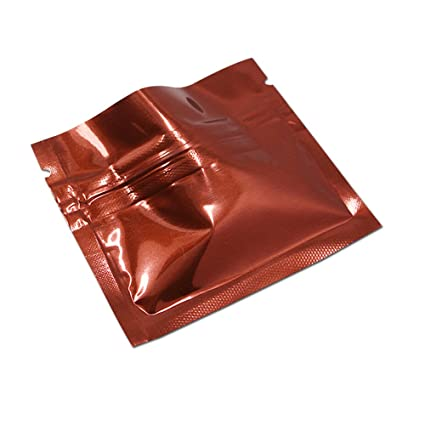 0b73db4f08ee 100 Pcs Aluminum Foil Packing Bags with Tear Nothches Metallic Mylar ...