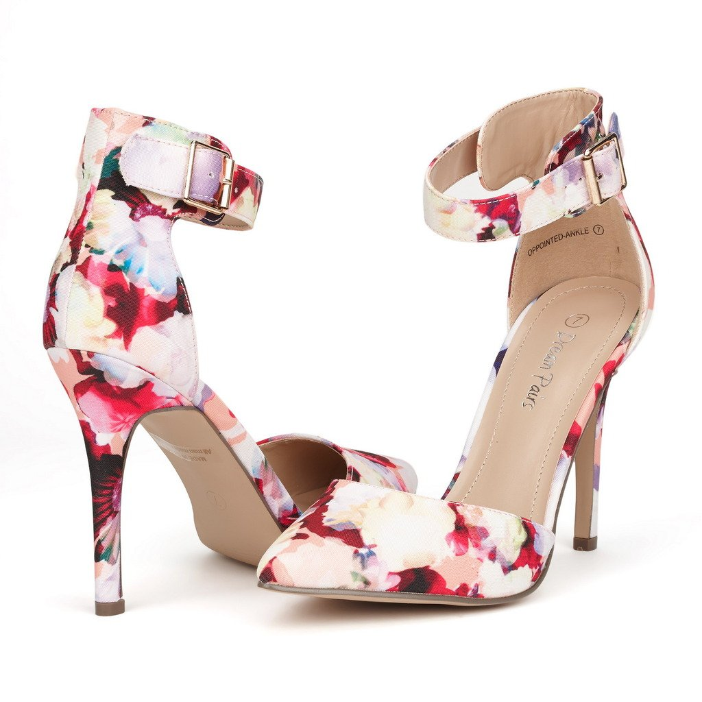DREAM PAIRS レディース B011CKIE0E 6.5 B(M) US|Oppointed-ankle-floral Oppointedanklefloral 6.5 B(M) US