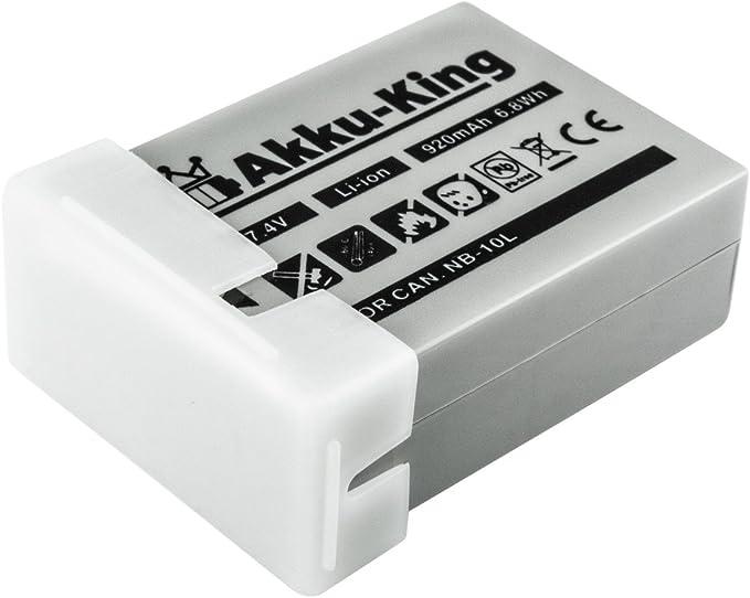 Akku King Akku Kompatibel Mit Canon Nb 10l Li Ion Kamera