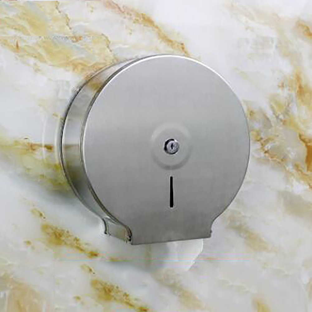 Toilet paper holder,Restroom Toilet paper shelf Stainless steel Toilet roll holder Waterproof Wall-mounting type Toilet tray-A