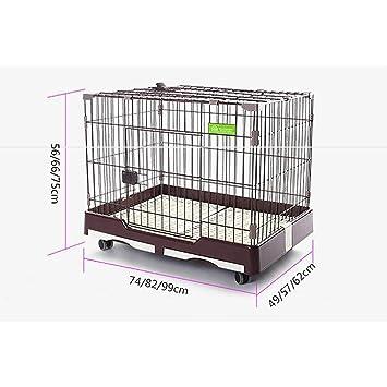 FPigSHS Casas de Gatos y Perros Valla Nido de Mascotas portátil al Aire Libre (Color : Marrón, Tamaño : L): Amazon.es: Hogar