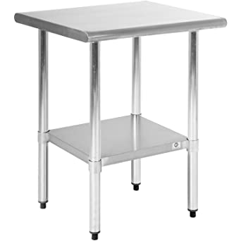 FDW Stainless Steel 24x24 Inch Kitchen Work Table, 24\